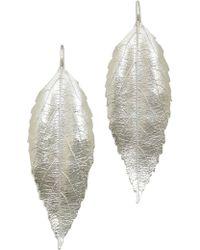 Aurelie Bidermann Central Park Earrings Silver - Lyst