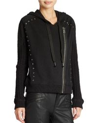 Free People Asymmetrical Zip Up Hoodie - Lyst