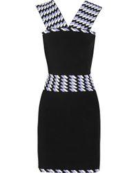 Christopher Kane Jacquard-Paneled Stretch-Knit Dress - Lyst