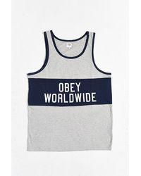 Obey Marathon Tank - Lyst