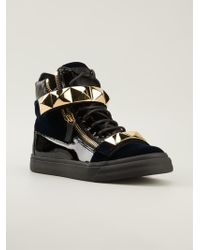 Giuseppe Zanotti Studded Hitop Sneakers - Lyst
