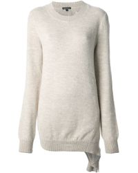 Ann Demeulemeester Distressed Sweater - Lyst