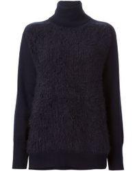 3.1 Phillip Lim Textured Front Sweater - Lyst