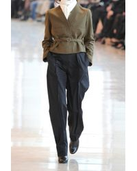 Christophe Lemaire - Belted Wool-Blend Felt Jacket - Lyst
