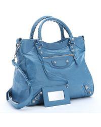 Balenciaga Indigo Blue Lambskin 'Giant 12' Convertible Tote Bag blue - Lyst