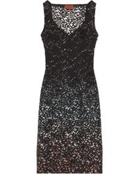 Missoni Wave Design with Lace Overlay Dress - Lyst