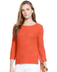 Lauren by Ralph Lauren Three-Quarter-Sleeve Crew-Neck Sweater - Lyst