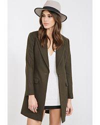Forever 21 Classic Wool-Blend Overcoat - Lyst