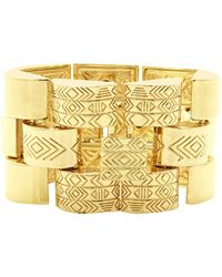 House Of Harlow 1960 Warrior Tiles Link Bracelet - Lyst