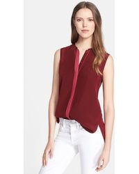 Vince Color Tipped Sleeveless Top - Lyst