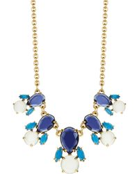 Kate Spade Stone Cluster Necklace - Lyst