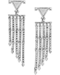 House Of Harlow Pyramid Stud Fringe Drop Earrings - Lyst