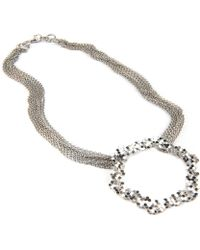 Gia Belloni Multi Chain Small Honeycomb Necklace - Lyst