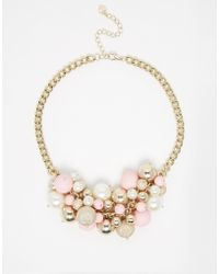 Lipsy - Pearl & Bobble Collar Necklace - Lyst