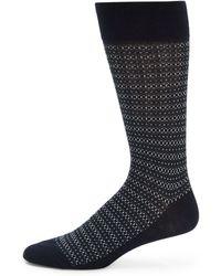 Saks Fifth Avenue Black Label - Fair Isle Socks - Lyst