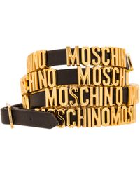 Moschino Enameled Bracelet With Logo - Lyst