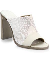 Rag & Bone Tristan Suede & Snake-Embossed Leather Mule Sandals - Lyst