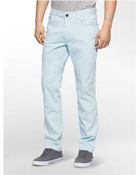 Calvin Klein | Jeans Slim Straight Leg 5-pocket Sateen Pants | Lyst
