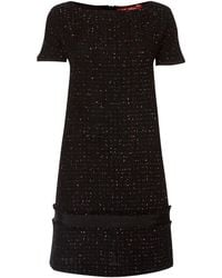 Max Mara Ove Short Sleeved Boucle Dress - Lyst