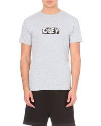 Obey Spirit Cotton T-shirt - Lyst