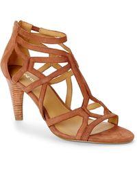 Nine West Brown Melancholy Sandals - Lyst