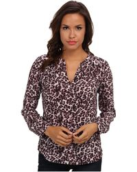 Rebecca Taylor Long Sleeve Lynx Print Top - Lyst