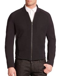 Armani Techno Paneled Jacket black - Lyst
