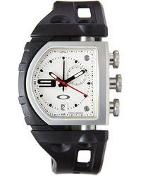 Oakley - Fuse Box Unobtainium Rubber Strap Watch - Lyst