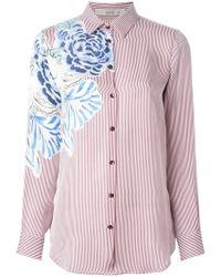 Etro Floral and Striped Shirt - Lyst