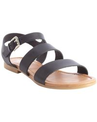 Charles By Charles David Black Leather Strappy Vella Sandals - Lyst