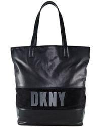 DKNY Metallic Letter Tote - Lyst