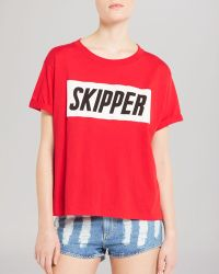 Sandro Tee - Travel Knit red - Lyst