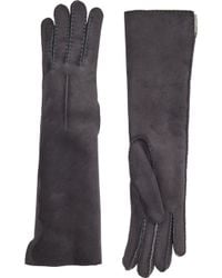 Barneys New York Shearling-Lined Long Gloves - Lyst