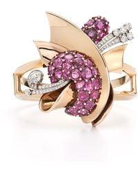 Fred Leighton Estate Vintage Ruby And Diamond Retro Detachable Clip Bracelet - Lyst