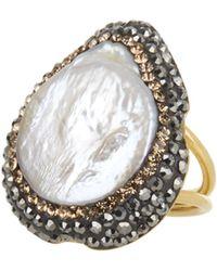 Soru Jewellery - Baroque Pearl Ring, Gold - Lyst