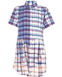 Sea Bleached-Plaid Pleated Dress - Lyst