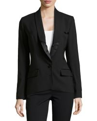 Haute Hippie Perfect Tailored Tuxedo Blazer - Lyst