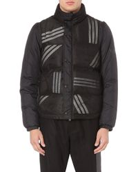 Y-3 Striped Detachable-sleeve Coat - Lyst