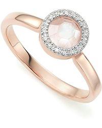 Monica Vinader - Diva Mini Circle Moonstone Ring - Lyst