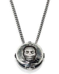 King Baby Studio Half Dollar Skull Pendant Necklace - Lyst