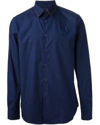 Paul Smith Polka Collar Slim Shirt Navy - Lyst