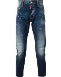 DSquared2 Kenny Twist Skinny Jeans - Lyst