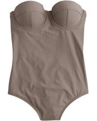 J.Crew Long Torso Underwire One-Piece Swimsuit - Lyst
