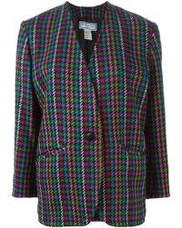 Yves Saint Laurent Vintage Houndstooth Jacket - Lyst