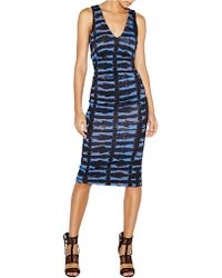 Nicole Miller Tie-dye Smudge V-neck Dress - Lyst