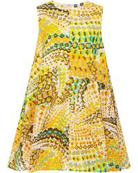 MSGM Aline Floral-stamped Mini Dress - Lyst
