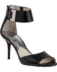 MICHAEL Michael Kors Guiliana Sandal Black Leather - Lyst