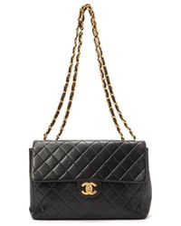 Chanel Pre-Owned Classic Flap Jumbo Bag - Lyst