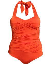 H&M + Draped Swimsuit - Lyst