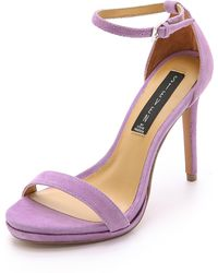 Steven by Steve Madden - Rykie Suede Single Band Sandals - Lavender - Lyst